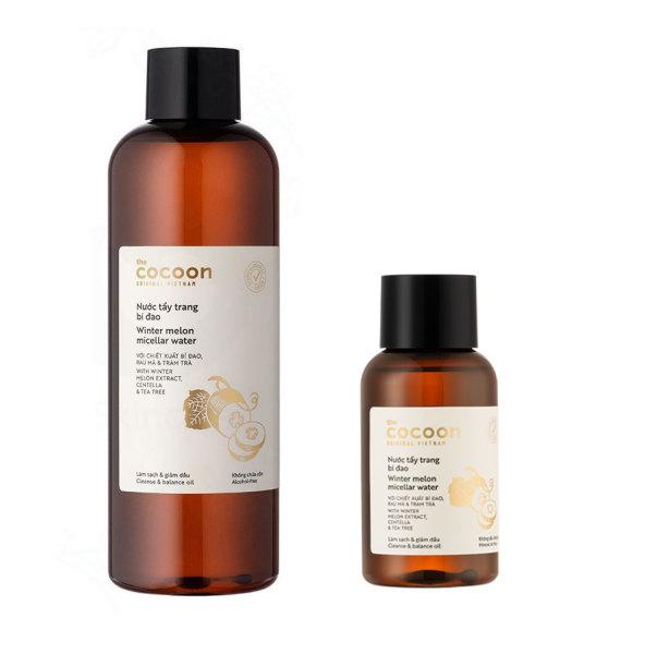 Nước tẩy trang bí đao Cocoon làm sạch da loại bỏ dầu nhờn 140ml - 500ml