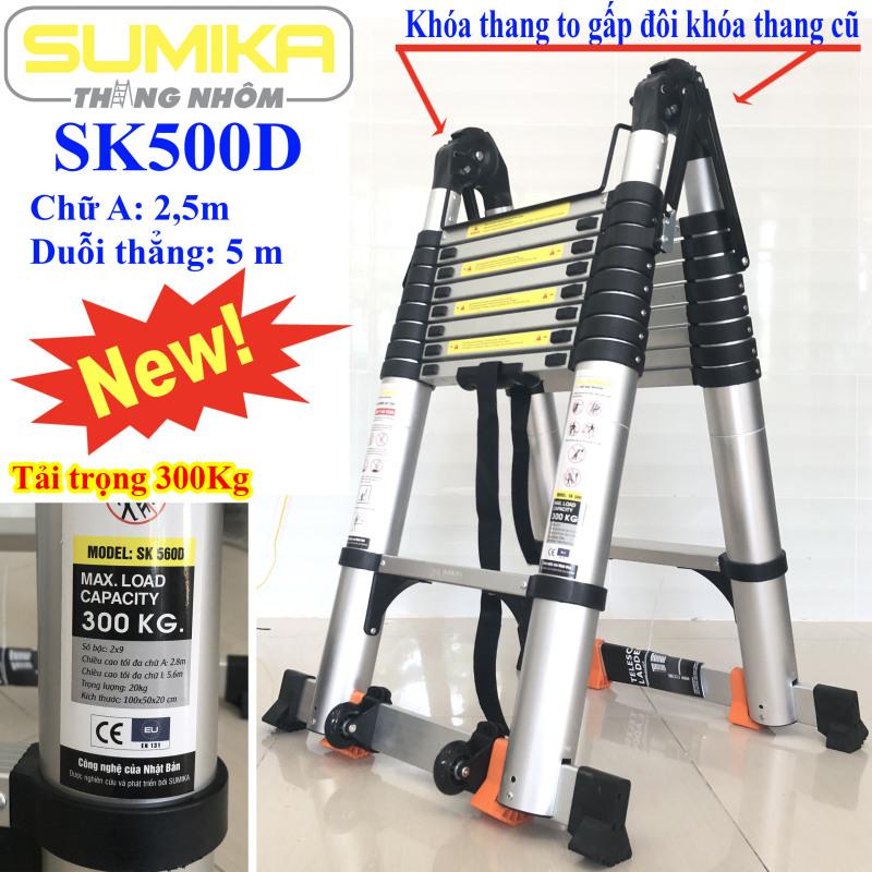 Thang nhôm rút chữ A 2m5 duỗi thẳng 5m Sumika SK500D
