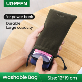 UGREEN Phone Pouch Bag for Mobile Phone Accessories Portable Waterproof Drawstring Protection Bag-Large size thumbnail