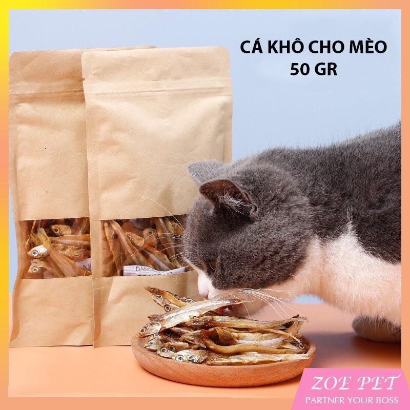 Cá khô cho mèo - Bổ sung dinh dưỡng