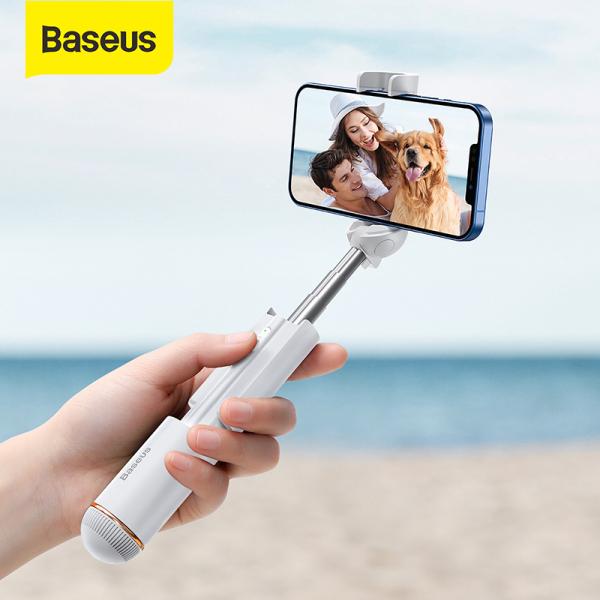 Baseus Mini Bluetooth Selfie Stick Foldable Wireless Self Stick Portable Handheld Selfiestick Extendable Monopod For iPhone 12 11 Pro Xiaomi Samsung