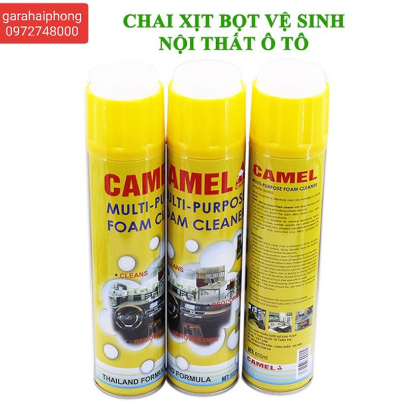 Chai xịt tẩy tạo bọt vệ sinh nội thất xe hơi Foam Cleaner 650ML