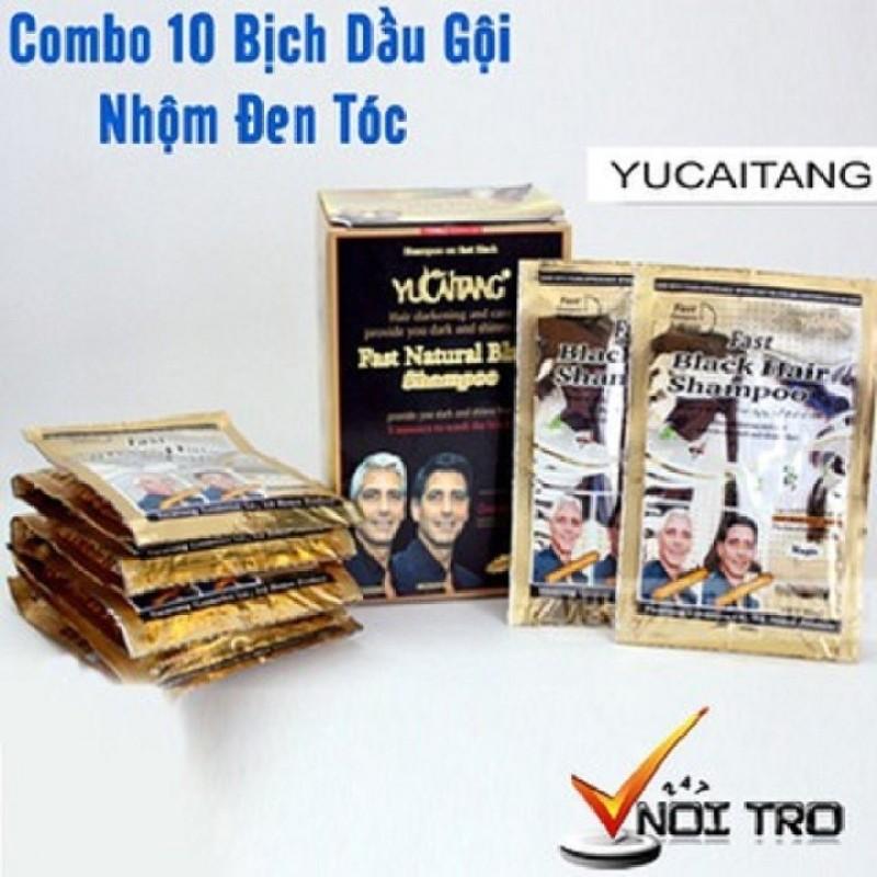 COMBO 10 Bịch Dầu Gội Đầu Nhuộm Tóc Đen Thái Lan