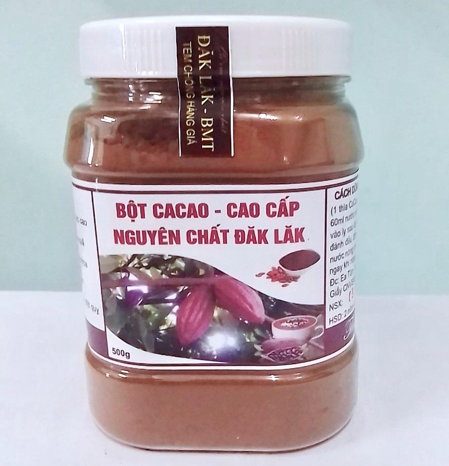 500gr Bột Cacao Nguyên Chất Đăk Lăk Loại 1: Thơm Ngon, Bổ Dưỡng, Vị Đậm Đà Với Giá Sốc