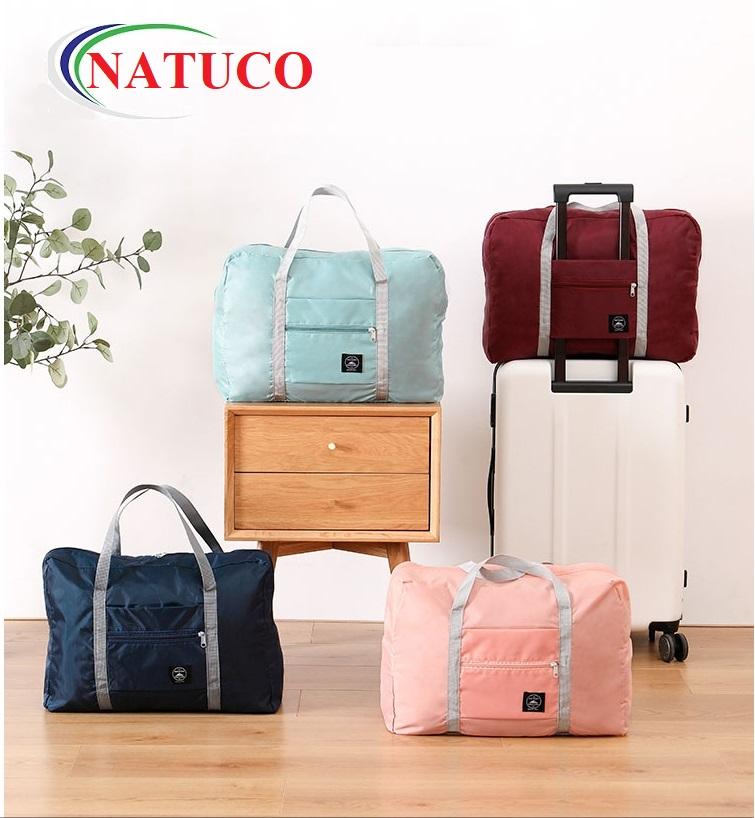 Túi du lich đeo vai siêu nhẹ, túi dự phòng, chất liệu mềm mại, có thể đeo vai, móc vào cần kéo va li, gấp gọn
