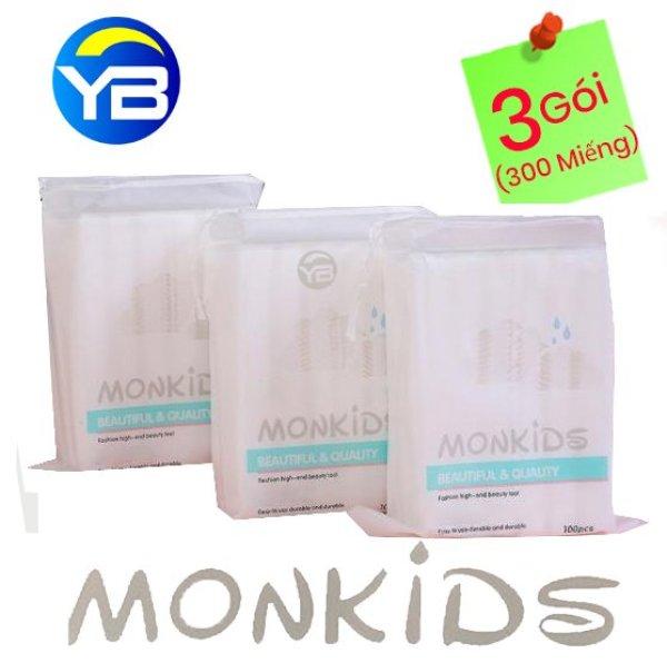 Combo 3 Gói Bông Tẩy Trang Monkids 100% cotton