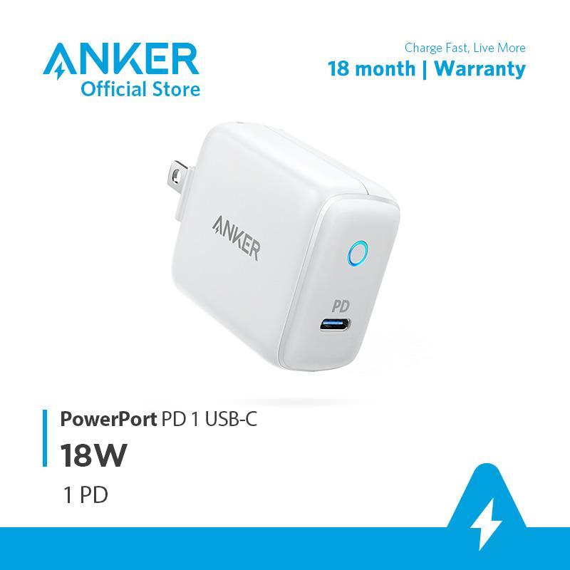 Sạc ANKER PowerPort PD 1 cổng 18W - A2019 (Trắng xám)