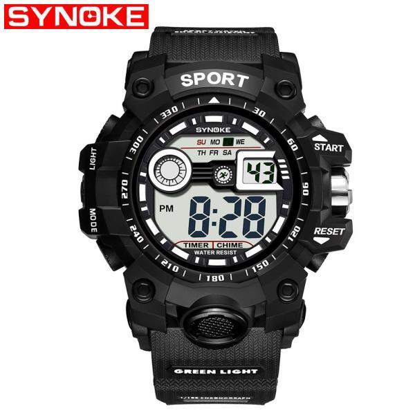 Nơi bán Đồng hồ thể thao nam - đồng hồ điện tử giá rẻ dây cao su Synoke 9006 - chính hãng