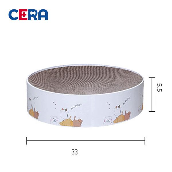 Bàn Cào Móng Cho Mèo Hình Tròn (33x33x5.5 cm) - BCM 013