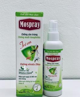Tinh dầu sả chanh xịt chống muỗi MOSPRAY - 100% THẢO DƯỢC - Sản phẩm dùng được an toàn cho mọi lứa tuổi, kể cả phụ nữ có thai và trẻ nhỏ, trẻ sơ sinh. thumbnail