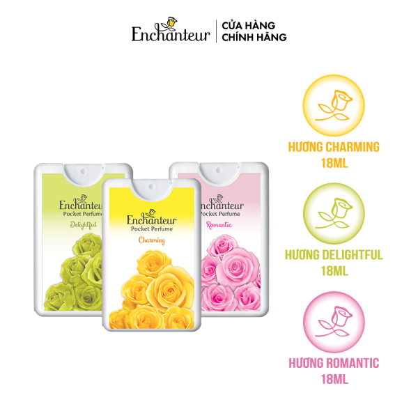 Combo 3 Nước hoa bỏ túi Enchanteur Charming, Delightful, Romantic 18ml/hộp cao cấp