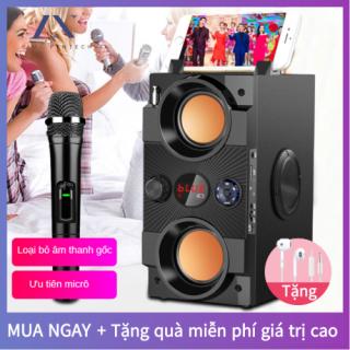 Loa Karaoke Bluetooth [1 Micro Không Dây], Di Động Loa Cao Cấp âm Thanh Vòm 8D, Loa âm Lượng Cực Đại 100W, Pin 2500 mA, Phát Liên Tục Trong 8 Giờ [Bảo Hành 12 Tháng] thumbnail