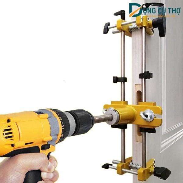 Bộ cữ khoan khóa cửa kiểu dáng mới cao cấp kèm 3 mũi khoan hợp kim chuyên dụng