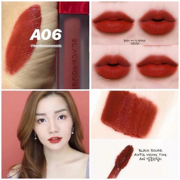 Son kem Black Rouge A06 Đỏ nâu đẹp nứt nở giá rẻ
