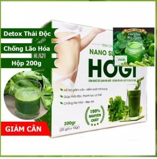 Thức uống giảm cân tinh chất cần tây Nano Slim Detox HoGi chính hãng, Hộp tinh chất cần tây 200gr, 20 gói x 10gr, hỗ trợ giảm cân kiểm soát mỡ bụng, thải độc tố thanh lọc cơ thể, chống lão hóa đẹp da thumbnail