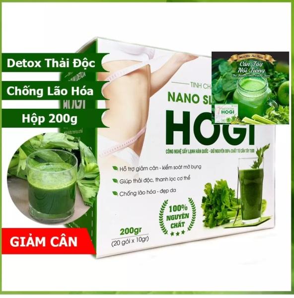Thức uống giảm cân tinh chất cần tây Nano Slim Detox HoGi chính hãng, Hộp tinh chất cần tây 200gr, 20 gói x 10gr, hỗ trợ giảm cân kiểm soát mỡ bụng, thải độc tố thanh lọc cơ thể, chống lão hóa đẹp da