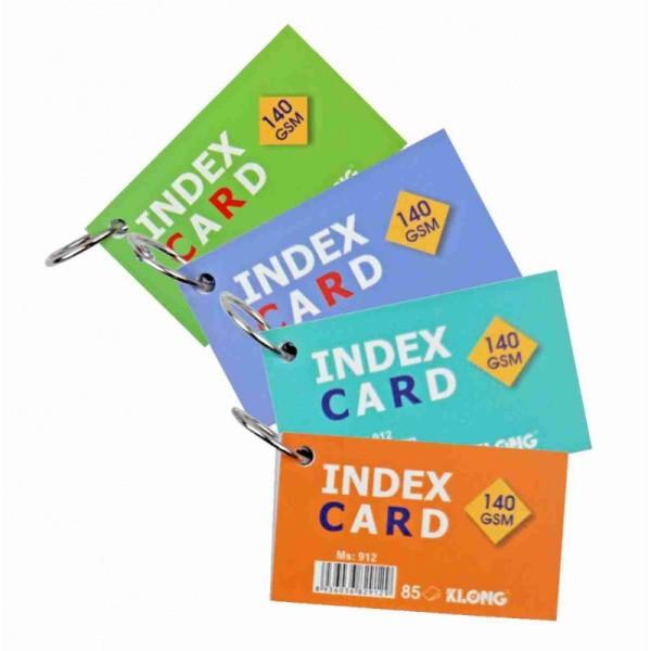 Tập thẻ Index Card A7 - móc treo KLong-MS912