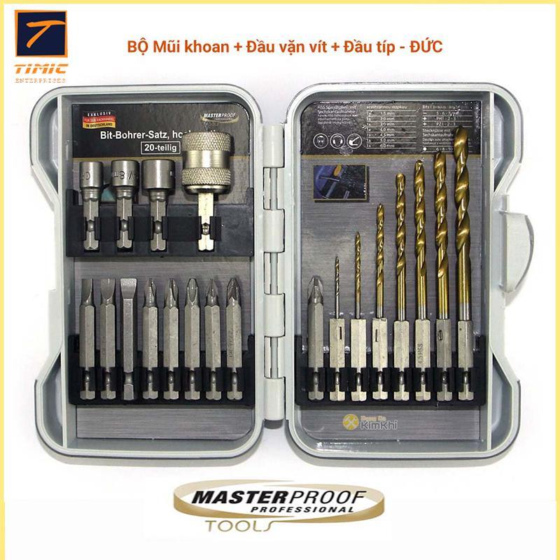 Máy khoan cầm tay, Phụ kiện máy khoan đục, dụng cụ dùng điện - Bộ phụ kiện máy khoan cầm tay MasterProof 22020 - Đa chức năng, tiện lợi với độ bền cao.uy tín chất lượng