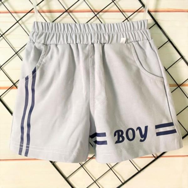 Quần Thun Cotton 100% co giãn 4 chiều túi chéo Tomtom Baby   Mẫu BOY màu ghi  Nhiều size cho bé từ 8-20kg  Quần áo bé trai   Quần bé trai  Quần áo trẻ em
