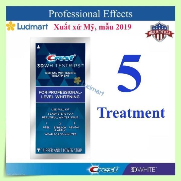 [HCM][Hàng Mỹ] Combo 10 miếng (5 gói/5 ngày) dán trắng răng Crest 3D White Whitestrips Professional Effects (mẫu mới) giá rẻ
