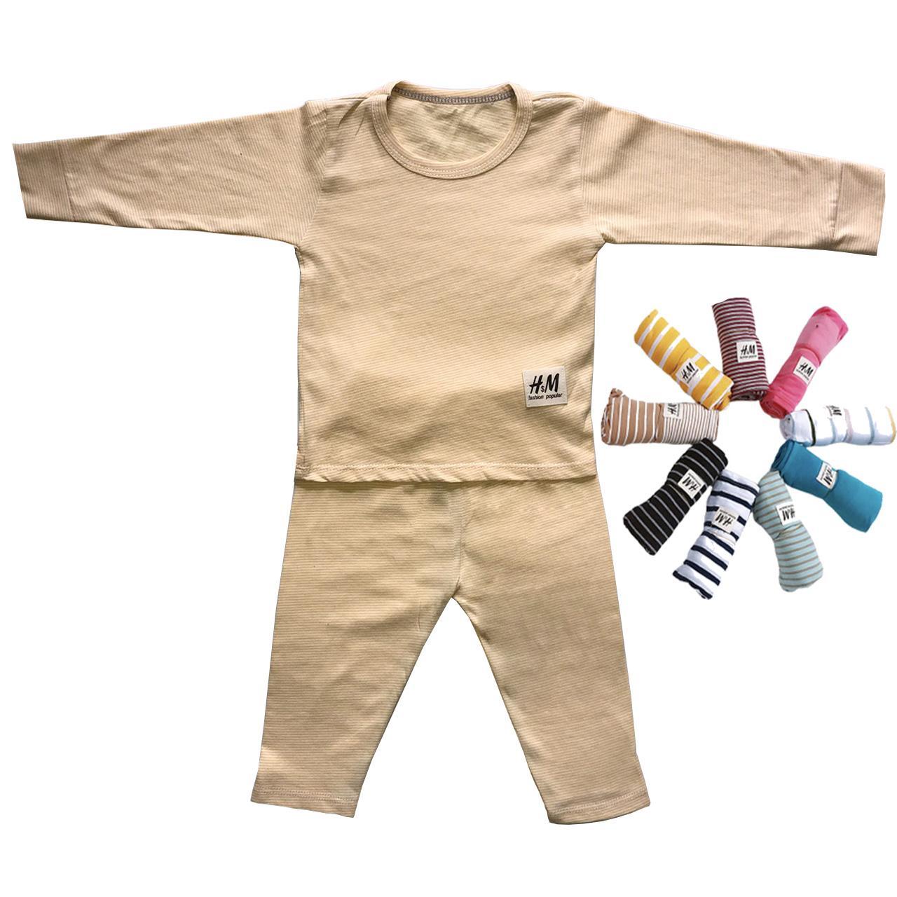 Bộ tay dài kẻ sọc 8-18kg Sản Xuất từ 100% vải coton cực xịn sò ( quần và áo) Nhật Bản