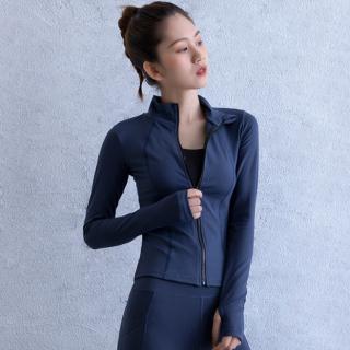 Áo khoác tập gym, yoga, thể thao, chạy bộ nữ Aroma Sport kiểu dài tay ôm body thấm mồ hôi hiệu quả- A07 thumbnail