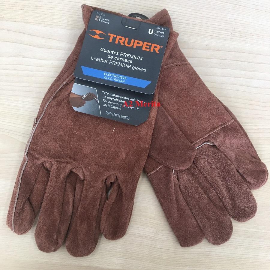 Găng tay da cho thợ điện đàn hồi Truper 14289 (GU-715)