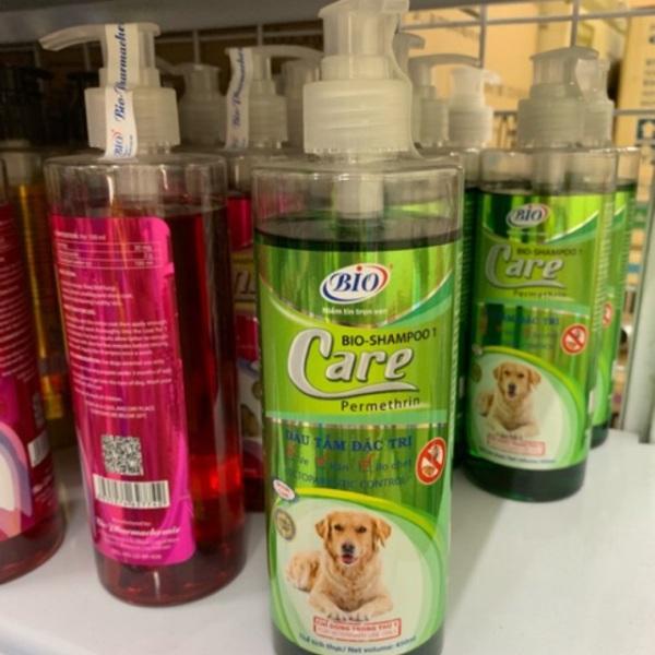 Sữa tắm diệt ve ghẻ rận tai cho chó mèo - Bio Care Premium 450ml