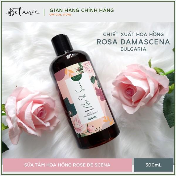 Sữa tắm hoa hồng cao cấp Rose de Scena 500ml -  Hoa hồng Damascena - Làm sạch dịu nhẹ, cấp ẩm, dưỡng da mịn màng giá rẻ