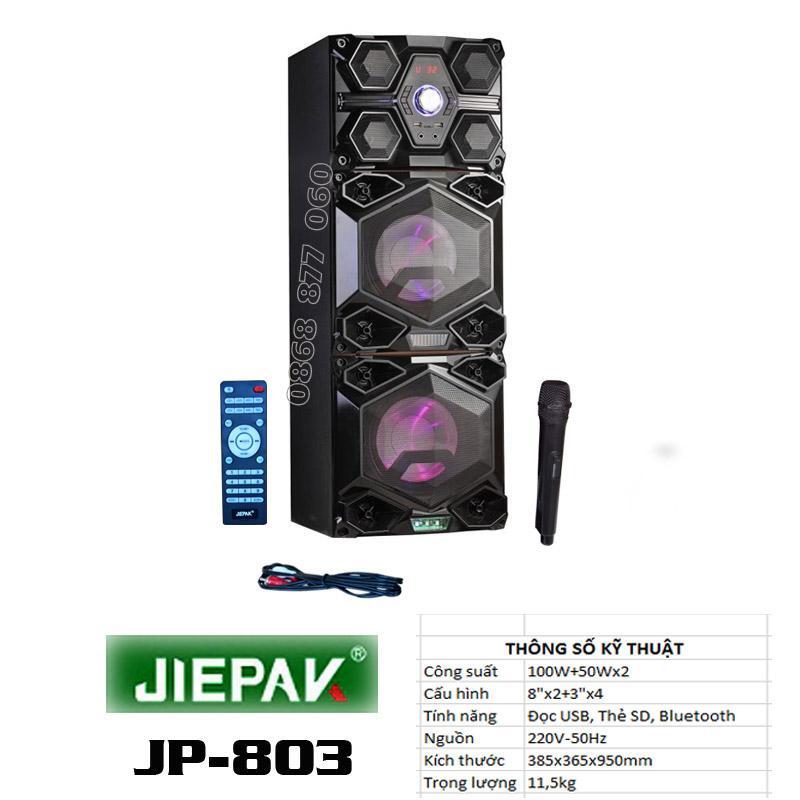 Loa cây karaoke có kích USB bluetooth JIEPAK 803 (Đen)