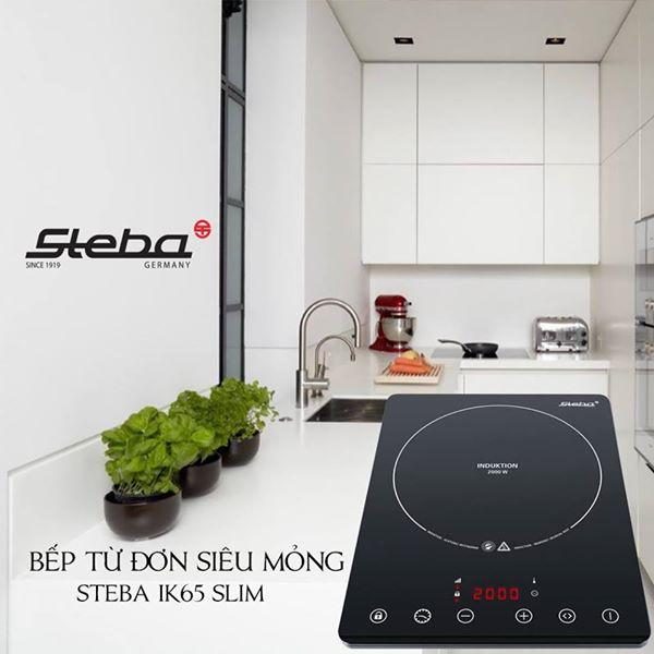 Bếp từ đơn Steba IK65 Slim gốm ceramic, 8 Nấc công suất, Hẹn giờ 1800 phút