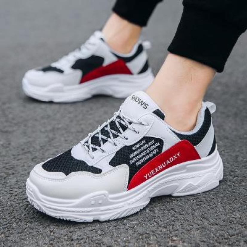 (VIDEO THẬT) Giày thể thao nam trắng sườn chữ kiểu dáng trẻ trung theo xu hướng mới nhất, chất da PU phối sợi thoáng khí cao cấp bền đẹp giá rẻ