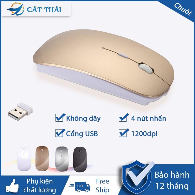 Chuột không dây 2.4G không phát quang không âm thanh...