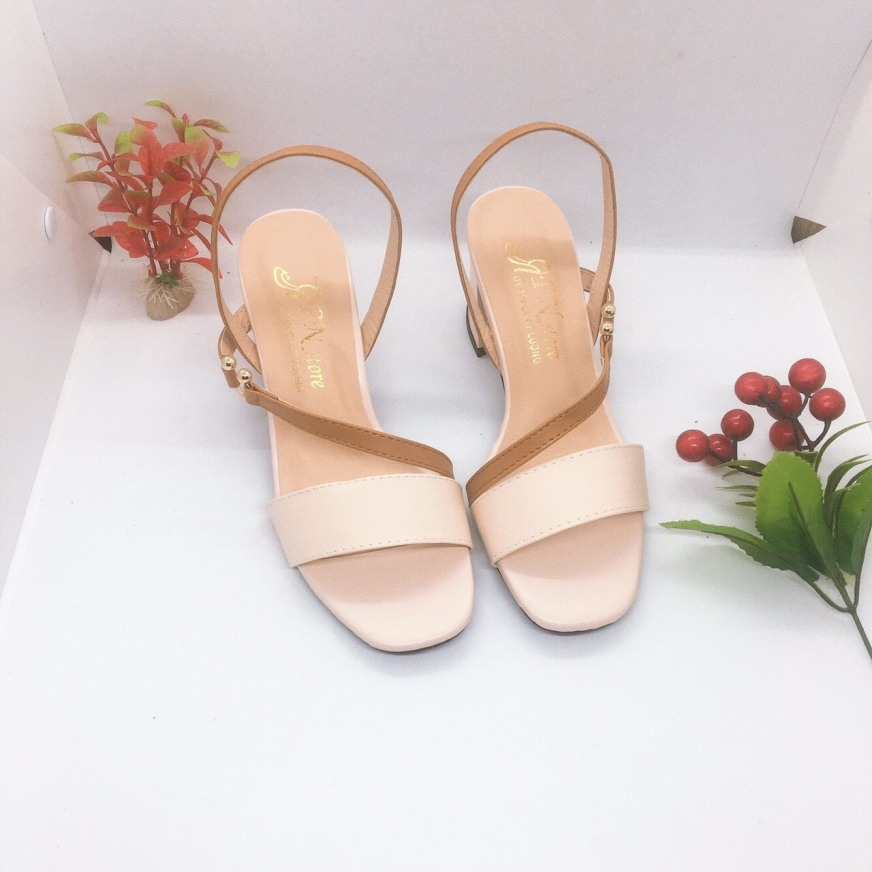 [ẢNH THẬT] Giày cao gót sandal quai bản thiết kế điệu đà, duyên dáng, trẻ trung, thời trang giá rẻ