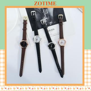 Đồng hồ thời trang nữ đẹp dây da mặt tròn giá rẻ ZO47 thumbnail