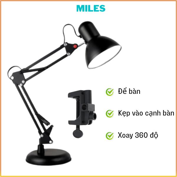 Đèn Kẹp Bàn Pixar, Đèn Bàn Học Sinh, Đèn Học Sinh Chống Cận Thị, Xoay 360 độ- MILES