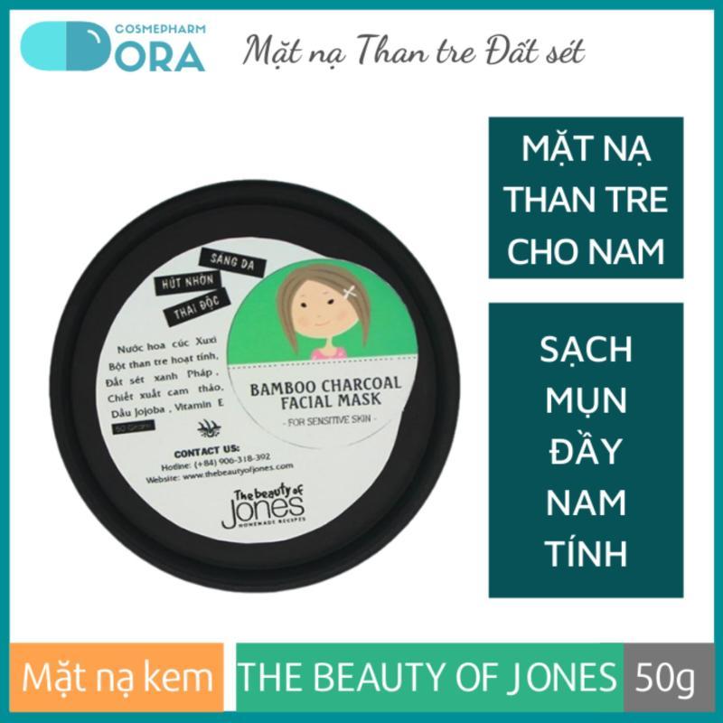 Mặt nạ Than tre Đất sét cho nam Bamboo Charcoal Facial Mask 50g giá rẻ