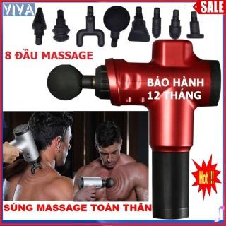 Máy massage cầm tay 8 đầu massage 6 tốc độ pin tích sạc, máy massage toàn thân đa năng giúp xoa bóp thư giãn giảm đau, đánh tan mỡ, tăng cơ bắp, có thể xoa bóp vào cơ nhỏ và sâu, máy massage bụng, máy matxa cầm tay, súng massage thumbnail