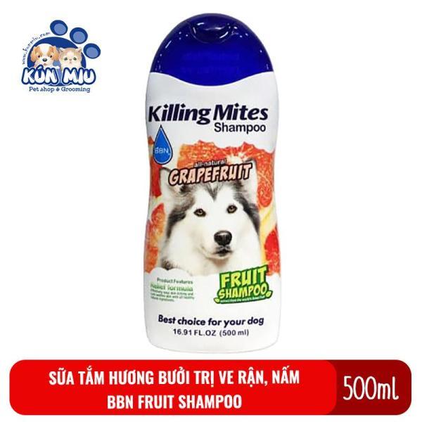 Sữa tắm cho chó mèo hương bưởi tri ve rận, nấm và bệnh ngoài da BBN Grapefruit Fruit shampoo 500ml