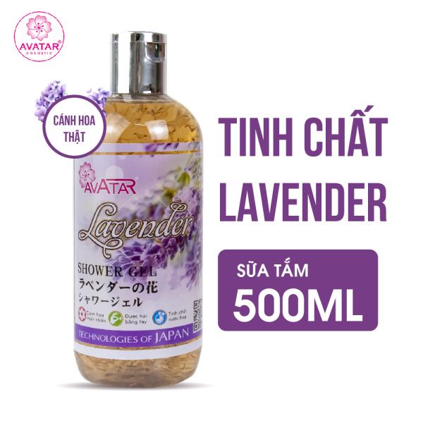 Sữa tắm Nhật AVATAR Lavender 500ml - Cánh hoa thật cùng tinh chất thiên nhiên 100%. Làm sạch da từ sâu bên trong.Tinh dầu Lavender nuôi dưỡng và cung cấp độ ẩm cho da. 100% thành phần tự nhiên, an toàn tuyệt đối