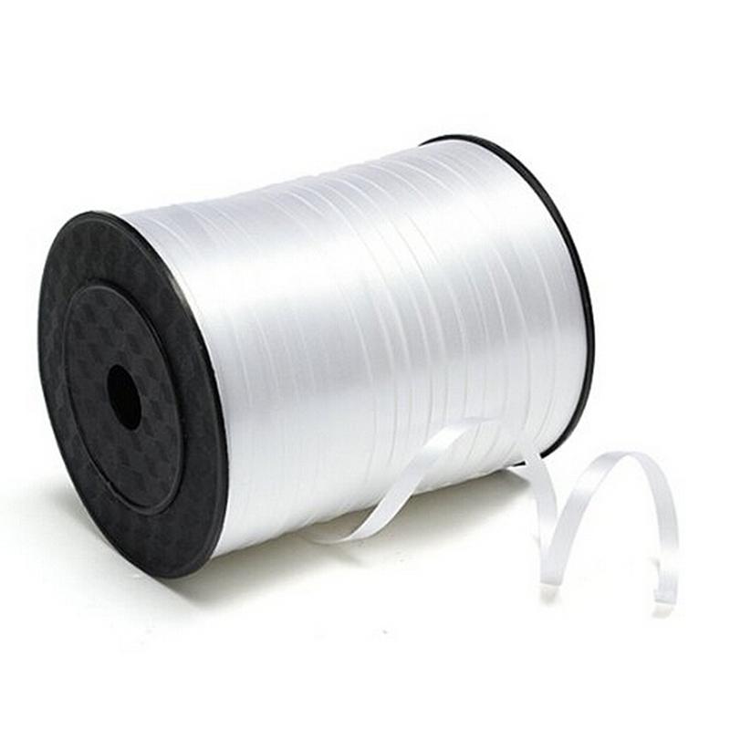 5mm Roll Curling Balloon Ribbon 500yd White