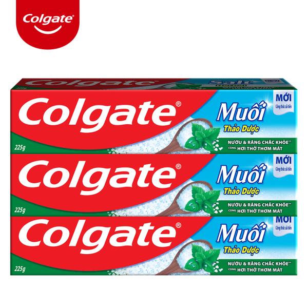 [COMBO 3 ] Kem đánh răng Colgate muối thảo dược 225g
