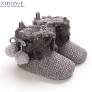 Kidlove Giày Bé Gái 0-18M, Bốt Đi Tuyết Cho Trẻ Em Giày Giữ Ấm Cho Trẻ Sơ Sinh Trẻ Mới Biết Đi, Bé Trai