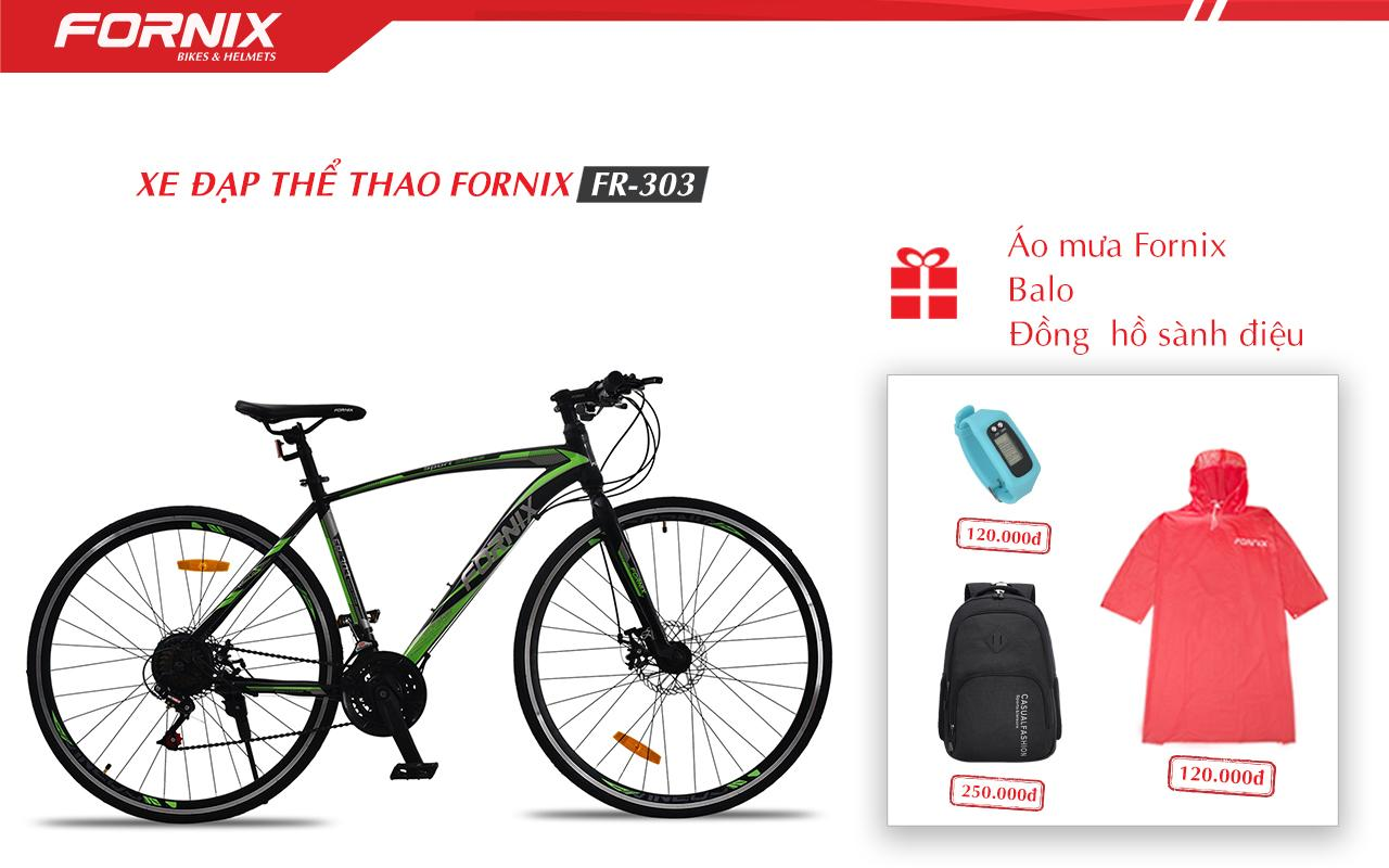 Mua Xe đạp thể thao Fornix FR303 + (Gift) Balo, Áo mưa, Đồng hồ đo bước đi