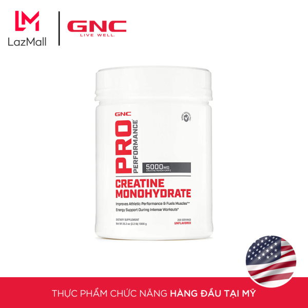 Bột giảm cân cung cấp Protein GNC Pro Performance Creatine Monohydrate Unflavored