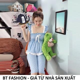 Đồ Bộ Mặc Nhà Vải Katê Lụa Mền Mại, Mát, Thời Trang - BT Fashion (Kate Lững - Chấm Bi 01R) thumbnail