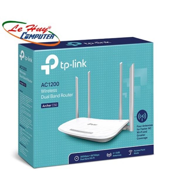 Router Wifi Băng Tần Kép Ac1200 Tplink Archer C50