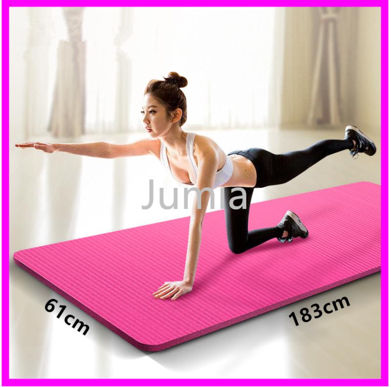 Bảng giá 【Hàng Có Sẵn】Thảm Yoga Thảm tập Yoga Gym dày 10mm TPE (kèm túi đựng+dây đeo)