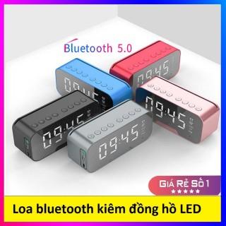 Loa Bluetooth Mini Kiêm Đồng Hồ Báo Thức K10 Mặt Gương Sáng Bóng, Sang Trọng, Bảo Hành 1 Đổi 1 thumbnail