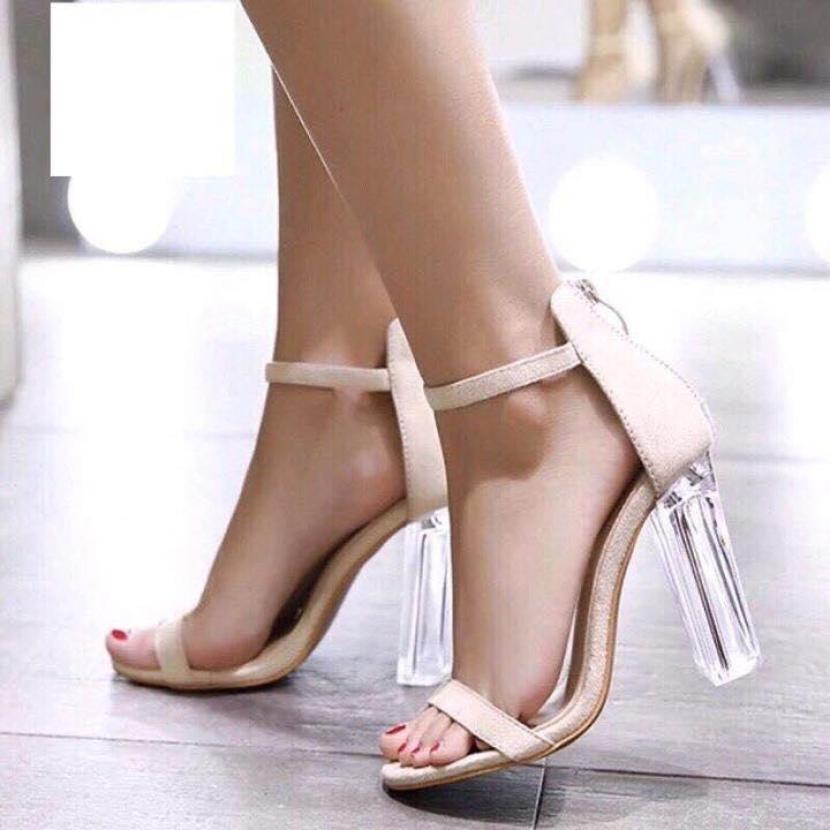 Giày cao gót LT 9 phân quai mảnh gót trong giá rẻ